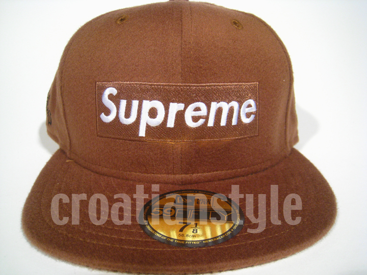 Supreme-New-Era-Box-Logo-Hat-LORO-PIANA-Camp-Cap-5-panel-hat-safari-FW11-fitted